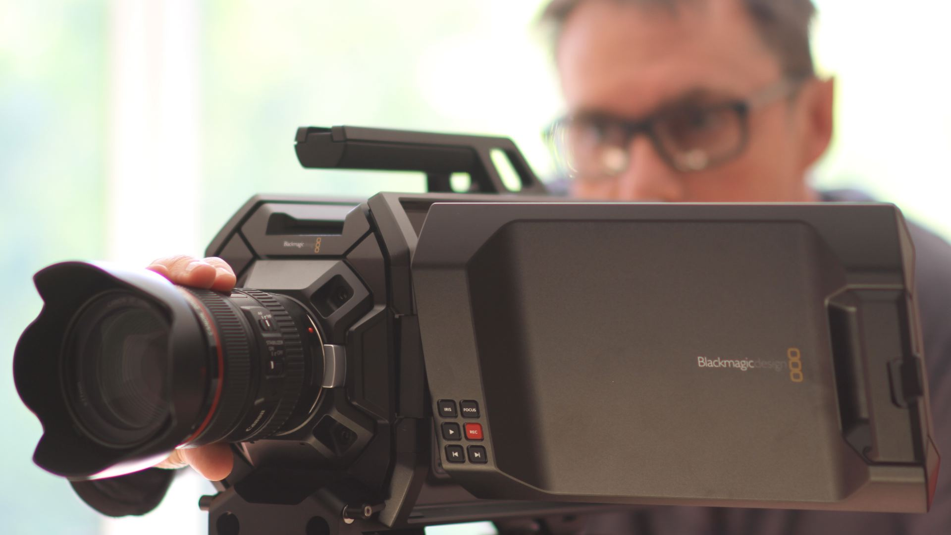 Paul Cadogan with Definitive Video Productions new 4K camera
